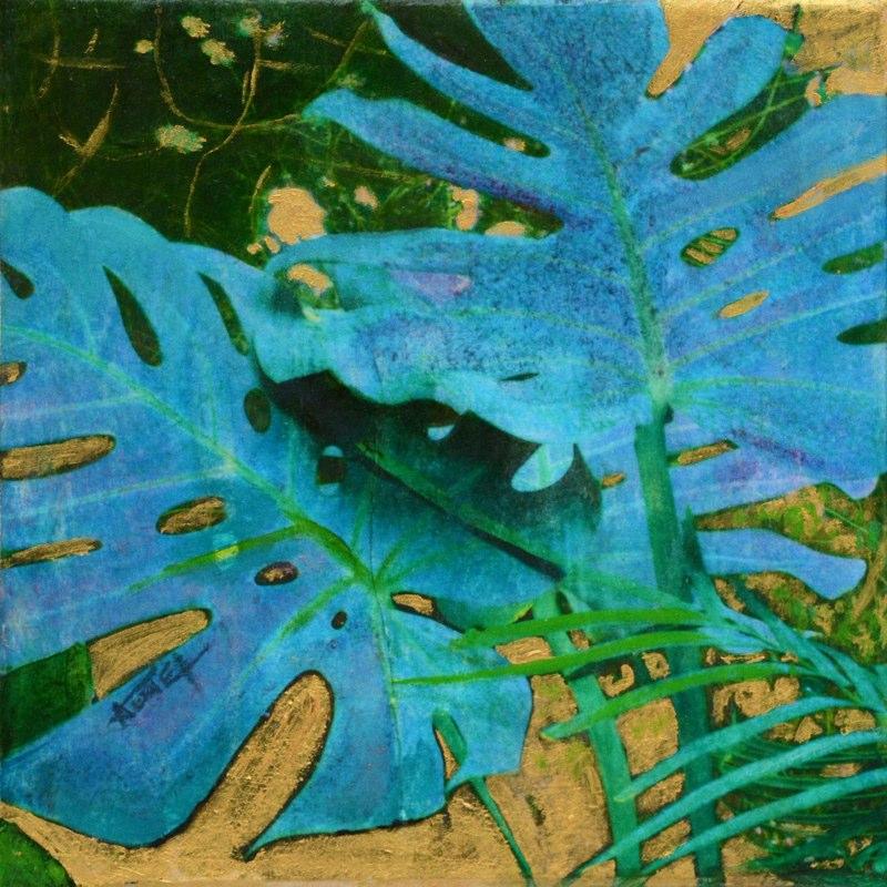 Monstera bleue de Valérie Auriel