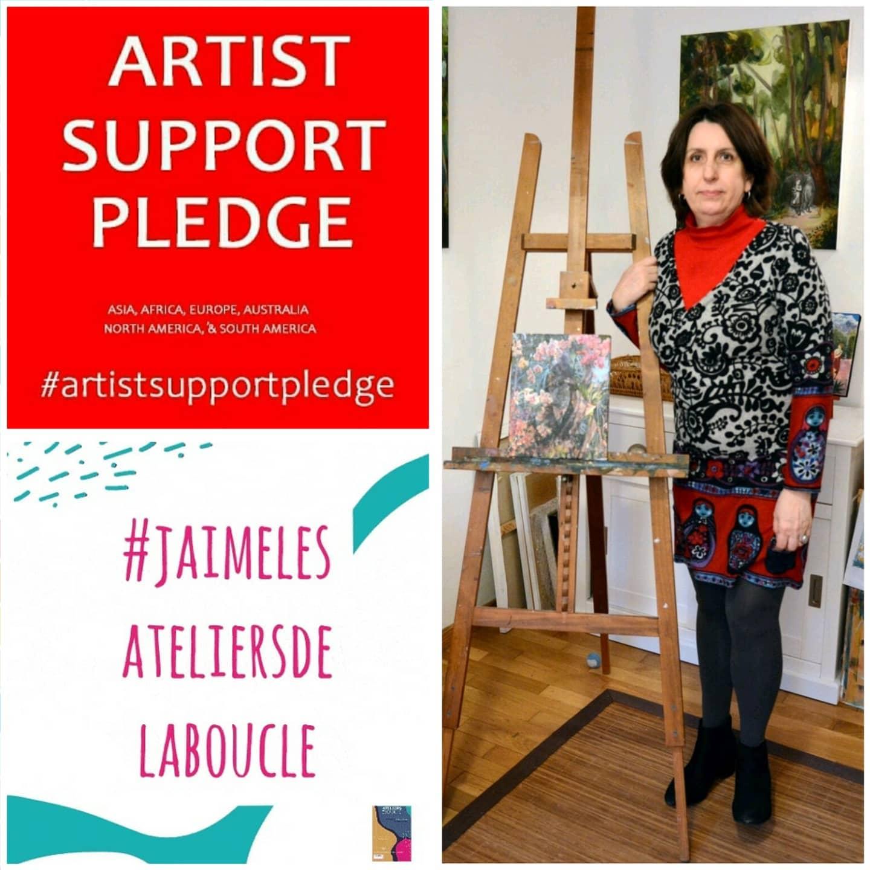 Participation à Artist support pledge