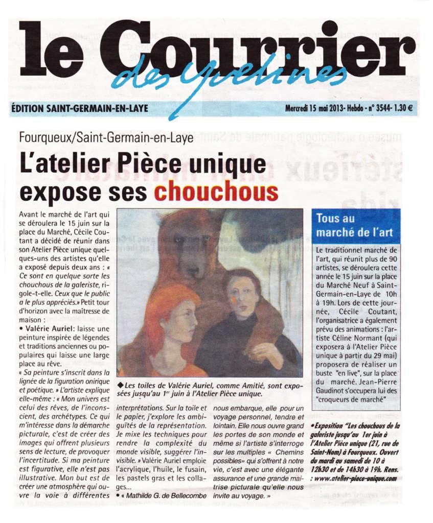 Article dans le Courrier des Yvelines