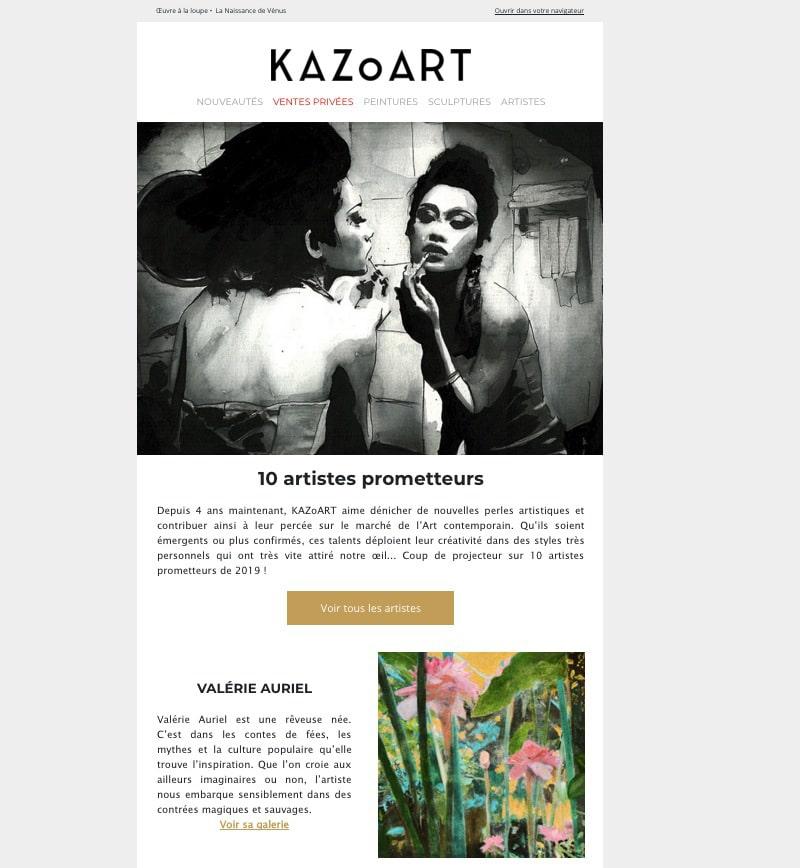Sélection des artistes à suivre en 2019 sur le site KAZoART