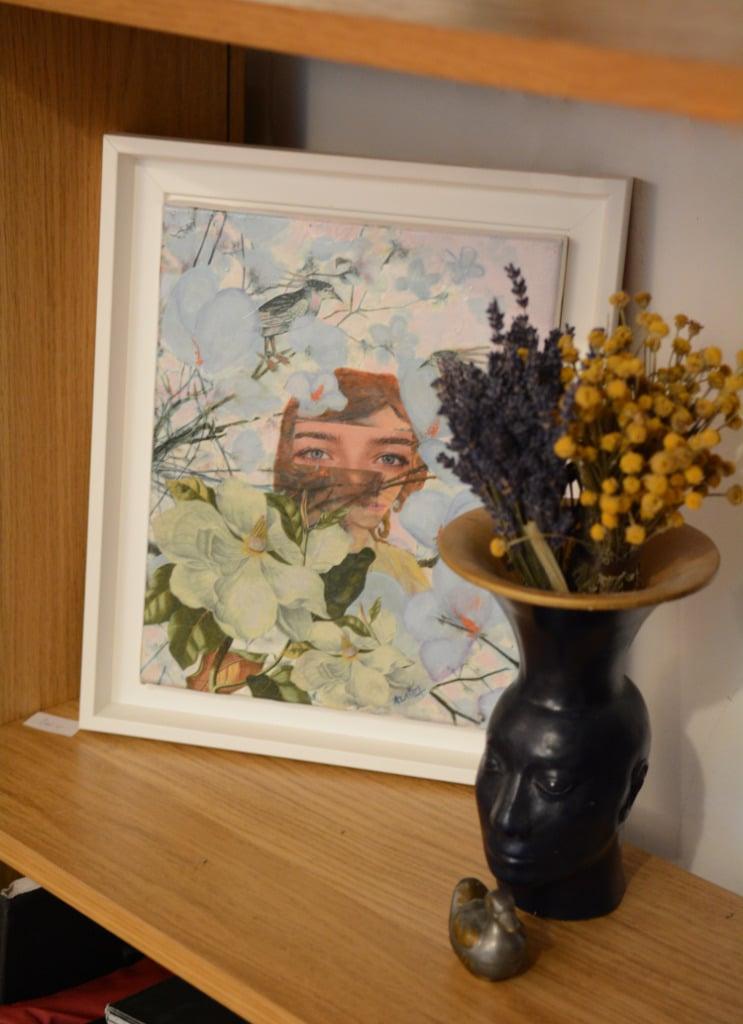 Collage La jeune fille aux magnolias