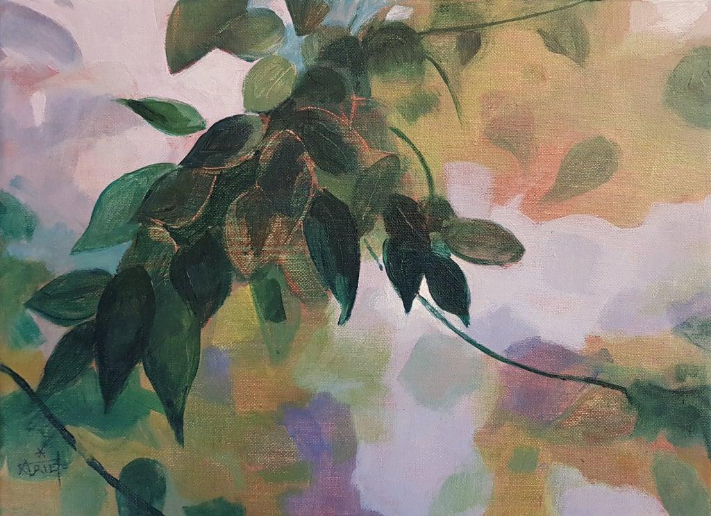 glycine, acrylique, peinture