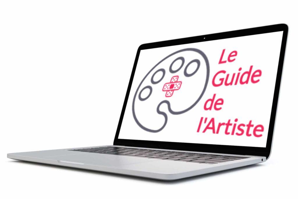 ordinateur, logo, guide de l'artiste