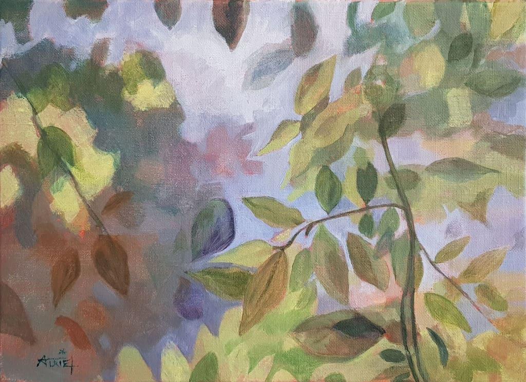 Glycine, peinture, axrylique